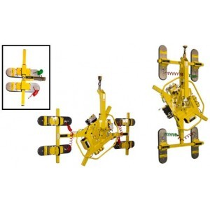 Vacuum Lifter T-Arm Assemblies from Wood's Powr-Grip for Lifting Insulated Metal Panels