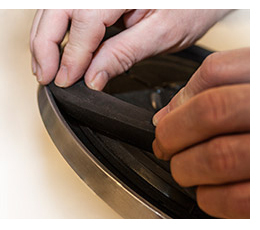 The New Foam Ring Is Easily Replaceable with Tools or Adhesives.