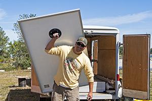 Wood's Powr-Grip Hand Held Vacuum Cups Make Handling Solar Panels Easier.