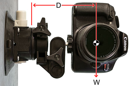 Mounting Cup with attached camera.